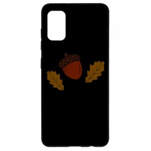 Samsung A41 Case Leaves and acorns