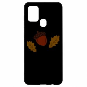 Samsung A21s Case Leaves and acorns