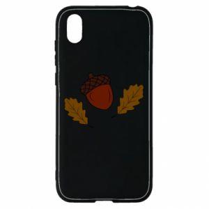 Huawei Y5 2019 Case Leaves and acorns