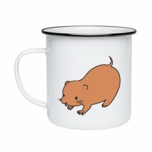 Kubek emaliowany Little beaver