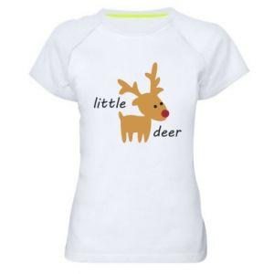 Women's sports t-shirt Little deer
