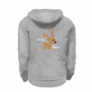 Kid's zipped hoodie % print% Little deer