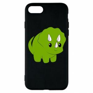 Etui na iPhone SE 2020 Little dinosaur with horns