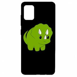 Etui na Samsung A51 Little dinosaur with horns