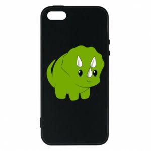 Etui na iPhone 5/5S/SE Little dinosaur with horns