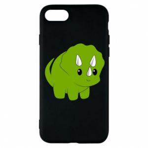 Etui na iPhone 8 Little dinosaur with horns