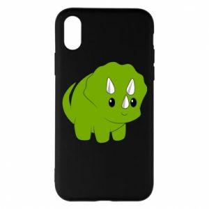 Etui na iPhone X/Xs Little dinosaur with horns