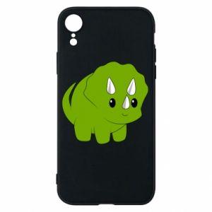 Etui na iPhone XR Little dinosaur with horns
