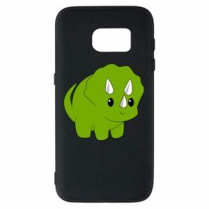 Etui na Samsung S7 Little dinosaur with horns