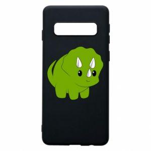 Etui na Samsung S10 Little dinosaur with horns