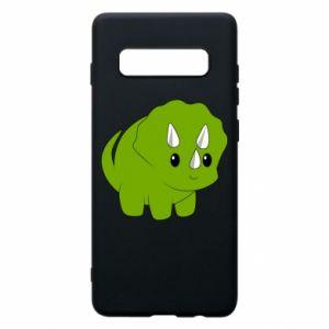 Etui na Samsung S10+ Little dinosaur with horns