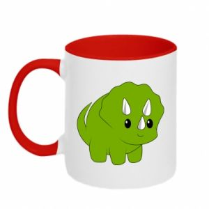 Two-toned mug Little dinosaur with horns