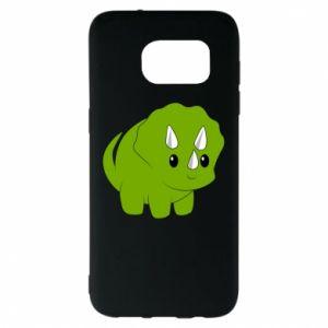 Etui na Samsung S7 EDGE Little dinosaur with horns