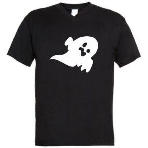 Męska koszulka V-neck Little ghost