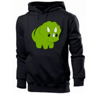 Men's hoodie Little dinosaur with horns
