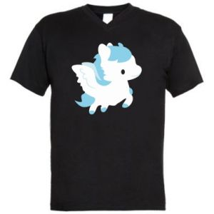 Men's V-neck t-shirt Little pegasus - PrintSalon