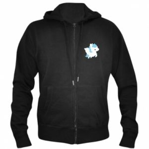 Men's zip up hoodie Little pegasus - PrintSalon