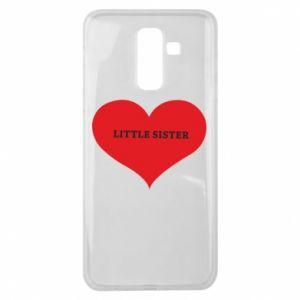 Etui na Samsung J8 2018 Little sister, napis w sercu
