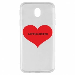 Etui na Samsung J7 2017 Little sister, napis w sercu