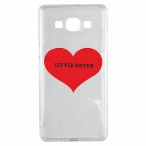 Etui na Samsung A5 2015 Little sister, napis w sercu