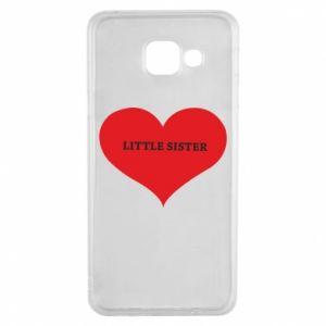 Etui na Samsung A3 2016 Little sister, napis w sercu