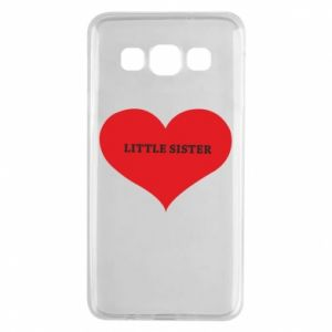 Etui na Samsung A3 2015 Little sister, napis w sercu