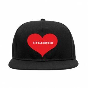 Snapback Little sister, napis w sercu