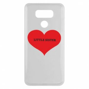 Etui na LG G6 Little sister, napis w sercu