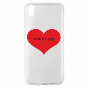 Etui na Huawei Y5 2019 Little sister, napis w sercu