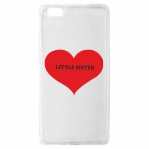 Etui na Huawei P 8 Lite Little sister, napis w sercu