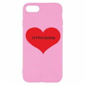 Etui na iPhone SE 2020 Little sister, napis w sercu