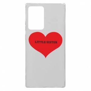 Etui na Samsung Note 20 Ultra Little sister, napis w sercu