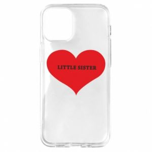 Etui na iPhone 12 Mini Little sister, napis w sercu