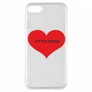 Etui na iPhone 8 Little sister, napis w sercu