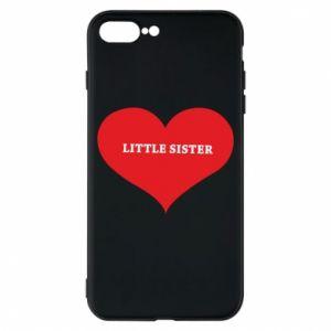 Etui na iPhone 8 Plus Little sister, napis w sercu