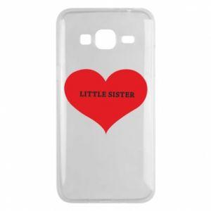 Etui na Samsung J3 2016 Little sister, napis w sercu