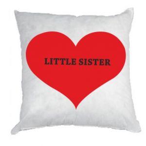 Poduszka Little sister, napis w sercu