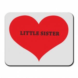 Podkładka pod mysz Little sister, napis w sercu