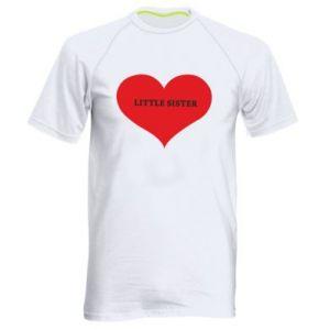 Koszulka sportowa męska Little sister, napis w sercu