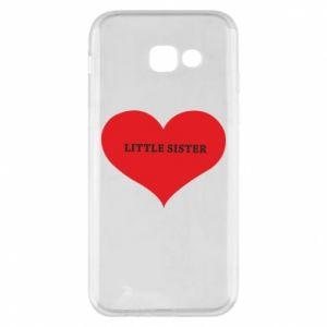 Etui na Samsung A5 2017 Little sister, napis w sercu