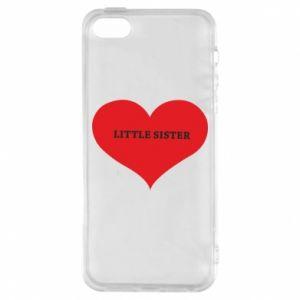 Etui na iPhone 5/5S/SE Little sister, napis w sercu