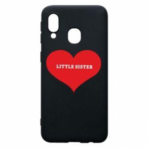 Etui na Samsung A40 Little sister, napis w sercu