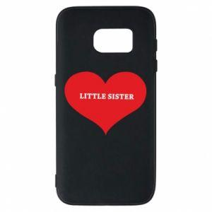 Etui na Samsung S7 Little sister, napis w sercu