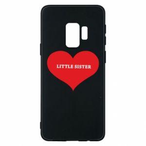 Etui na Samsung S9 Little sister, napis w sercu