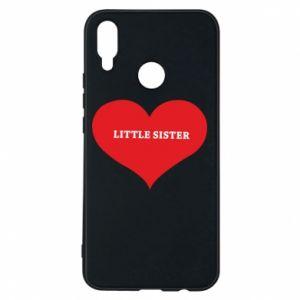 Etui na Huawei P Smart Plus Little sister, napis w sercu