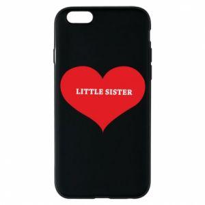 Etui na iPhone 6/6S Little sister, napis w sercu