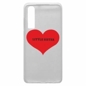 Etui na Huawei P30 Little sister, napis w sercu