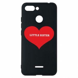 Etui na Xiaomi Redmi 6 Little sister, napis w sercu