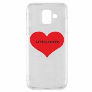 Etui na Samsung A6 2018 Little sister, napis w sercu
