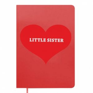 Notepad Little sister, inscription in the heart